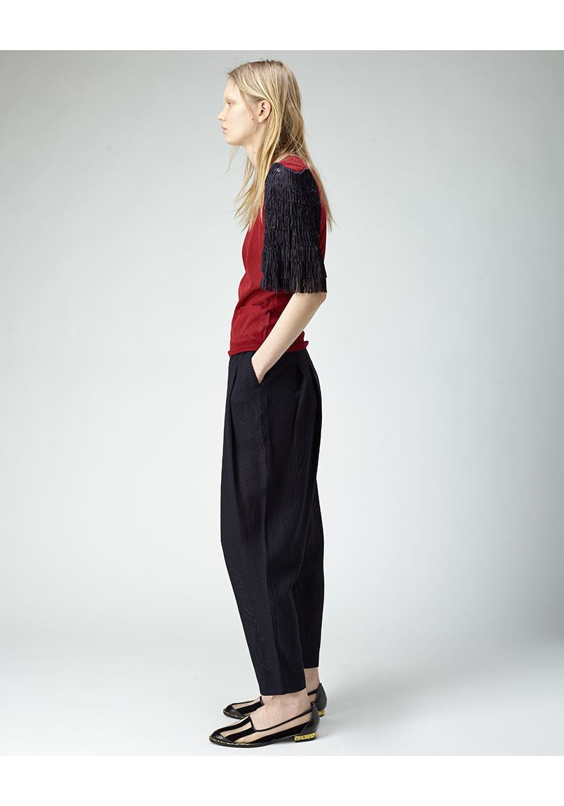 High Waisted Pleat Pant