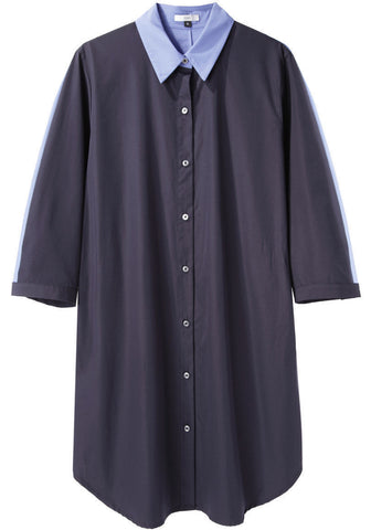 Contrast Back Shirtdress