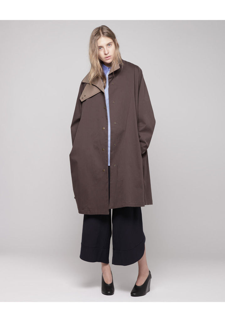 Oversized Colorblocked Coat