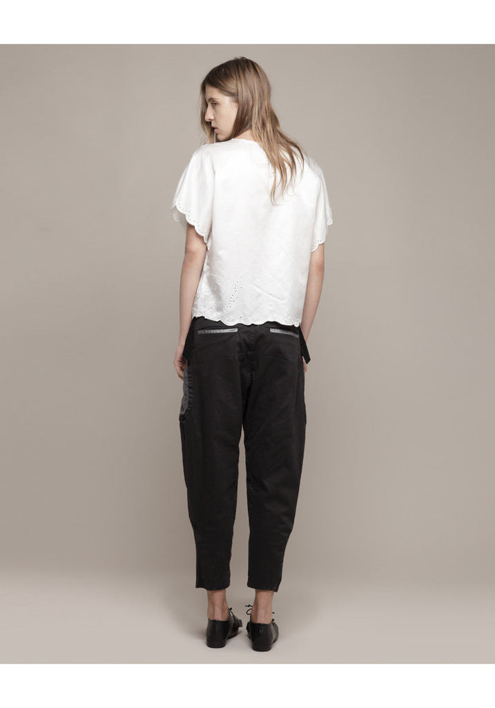 Autumn Patchwork Cropped Pants