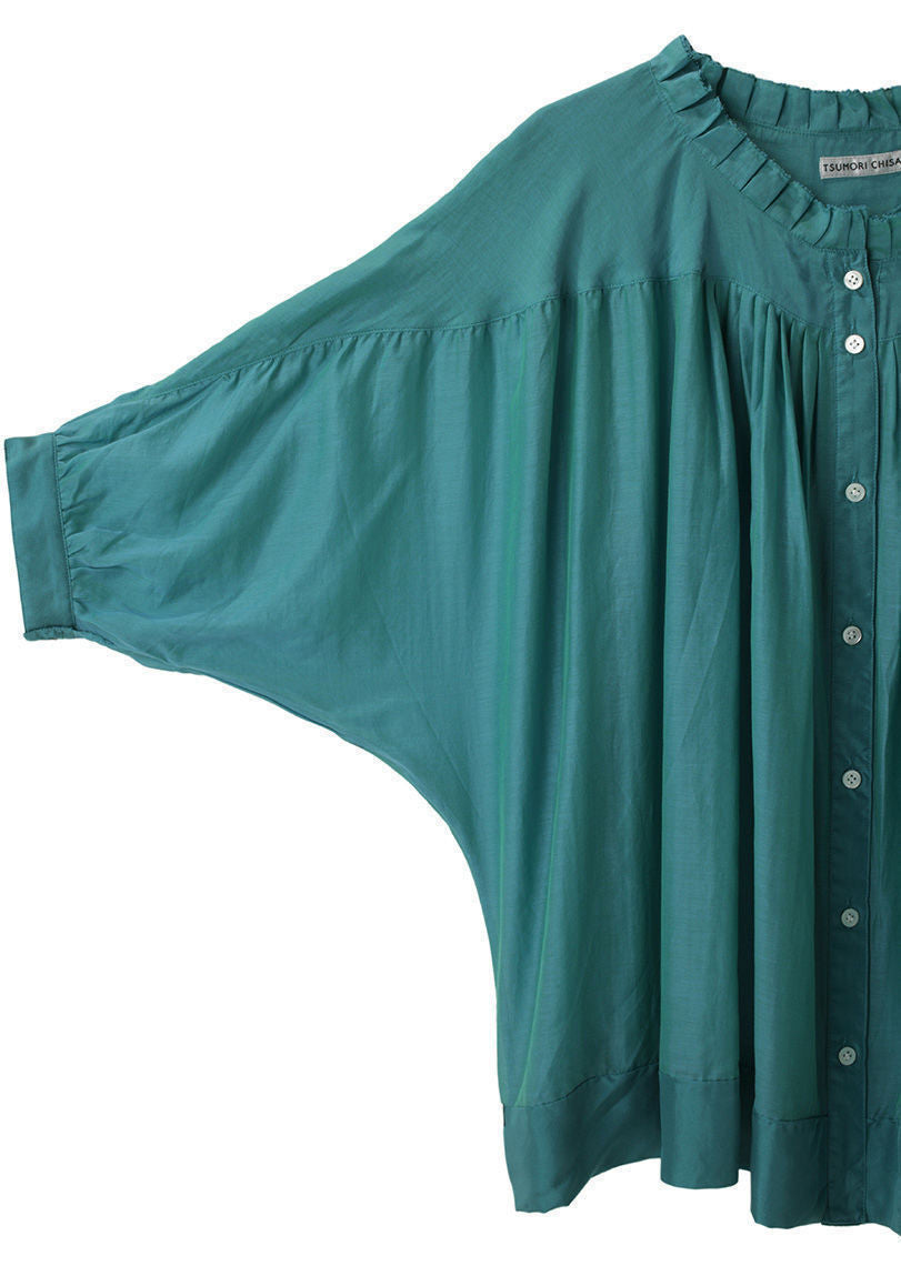 Button Front Pleated Top