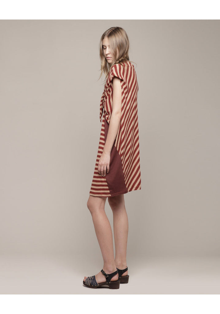 CW Stripe Dress with Tie
