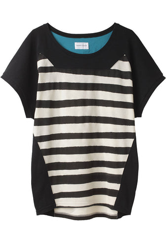 Cat Silhouette Stripe Tee