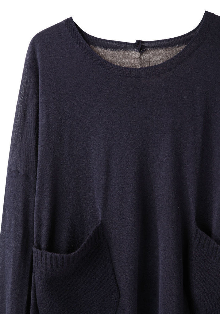 Contrast Back Pullover