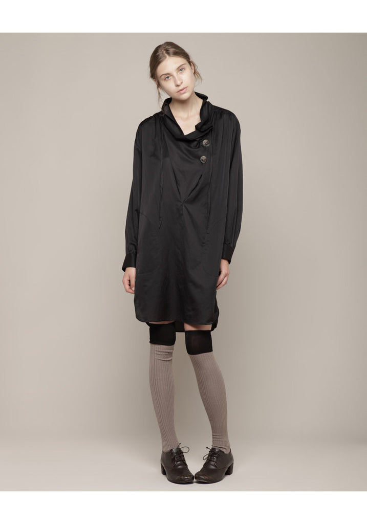 Cowl Neck Shirt Dress