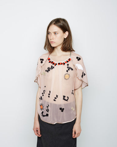 Embroidered Fox Top