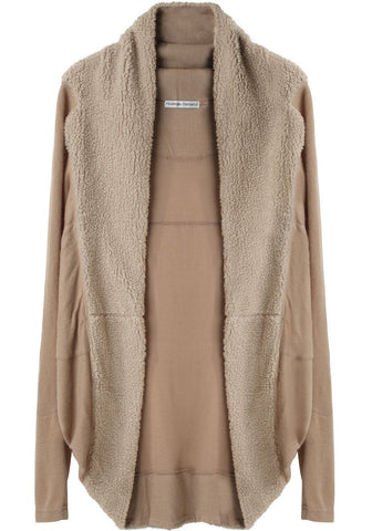 Fleece Jersey Cardigan