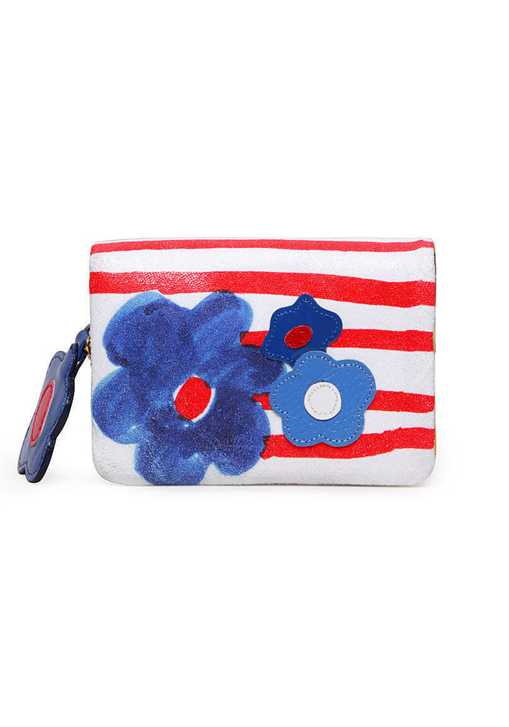 Flower Stripe Wallet