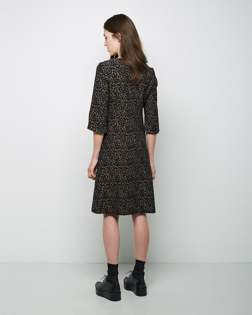 Fox Flower Jacquard Dress