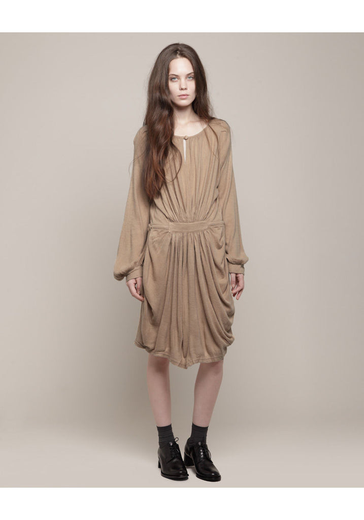 Gathered Drawstring Dress
