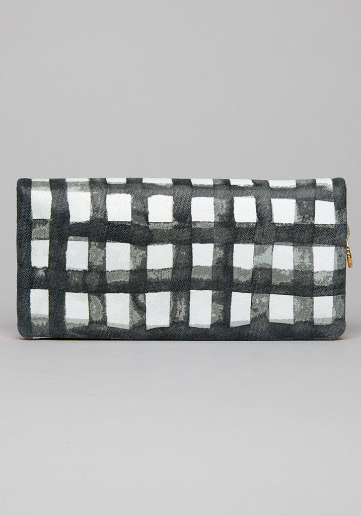 Gingham Check Cat Wallet