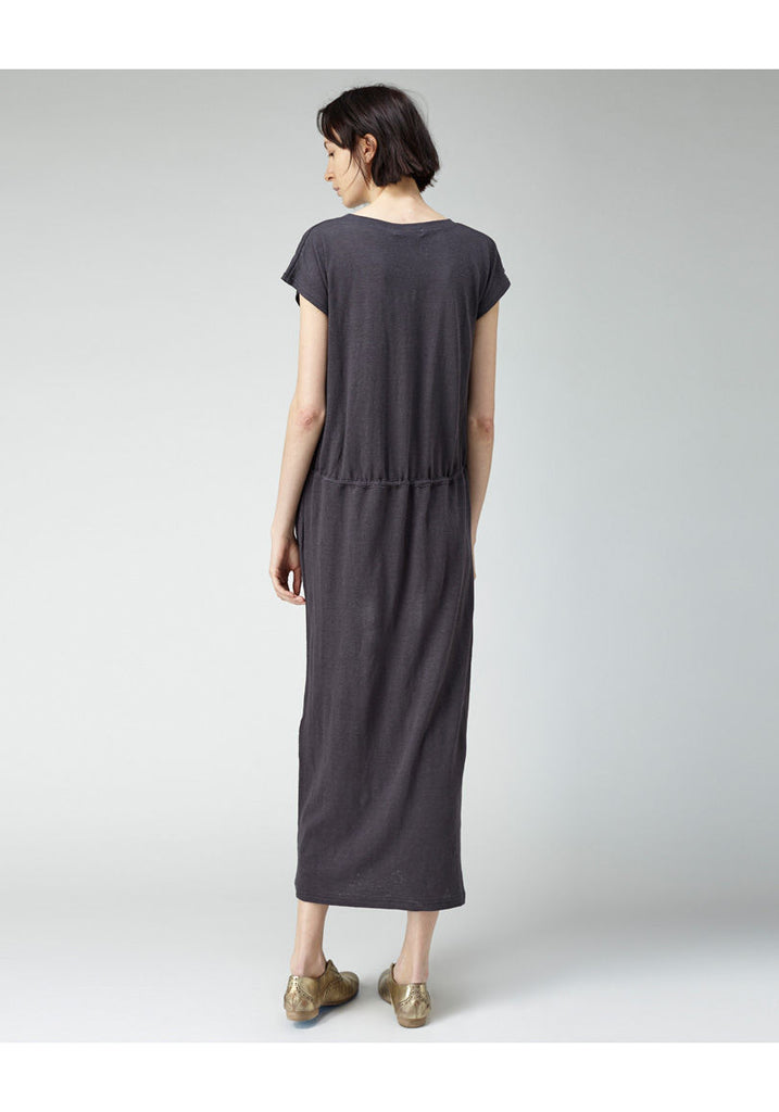 Long Drawstring T-Shirt Dress