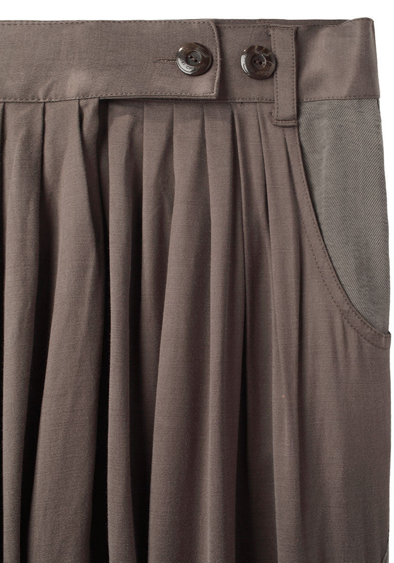 Pleated Drop Pant