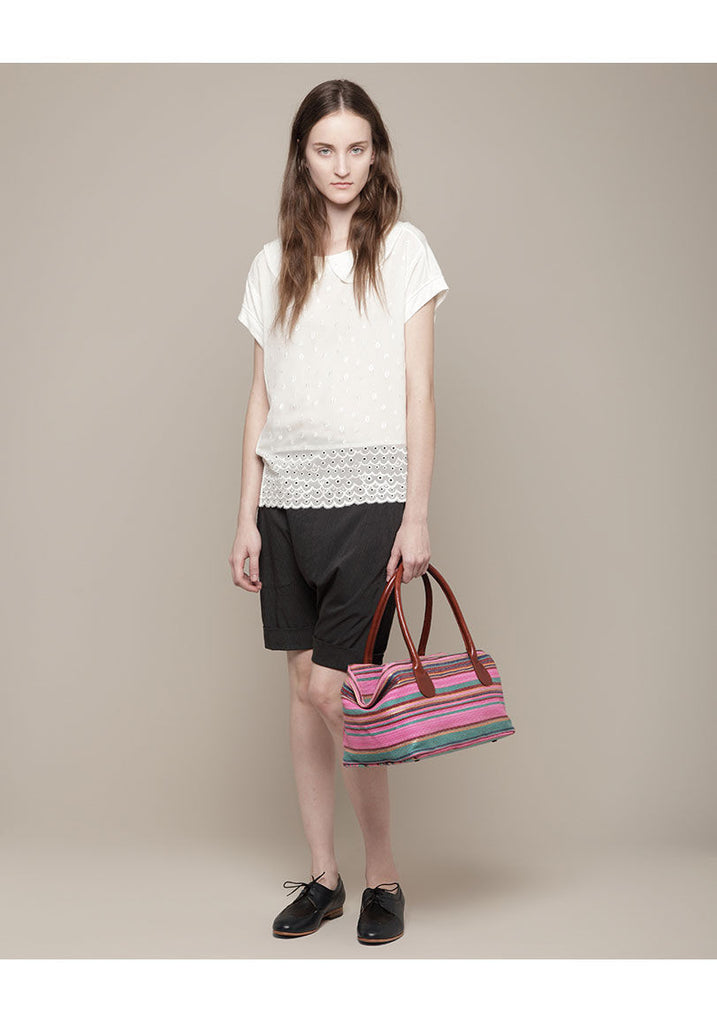Raffia Multi Stripe Bag