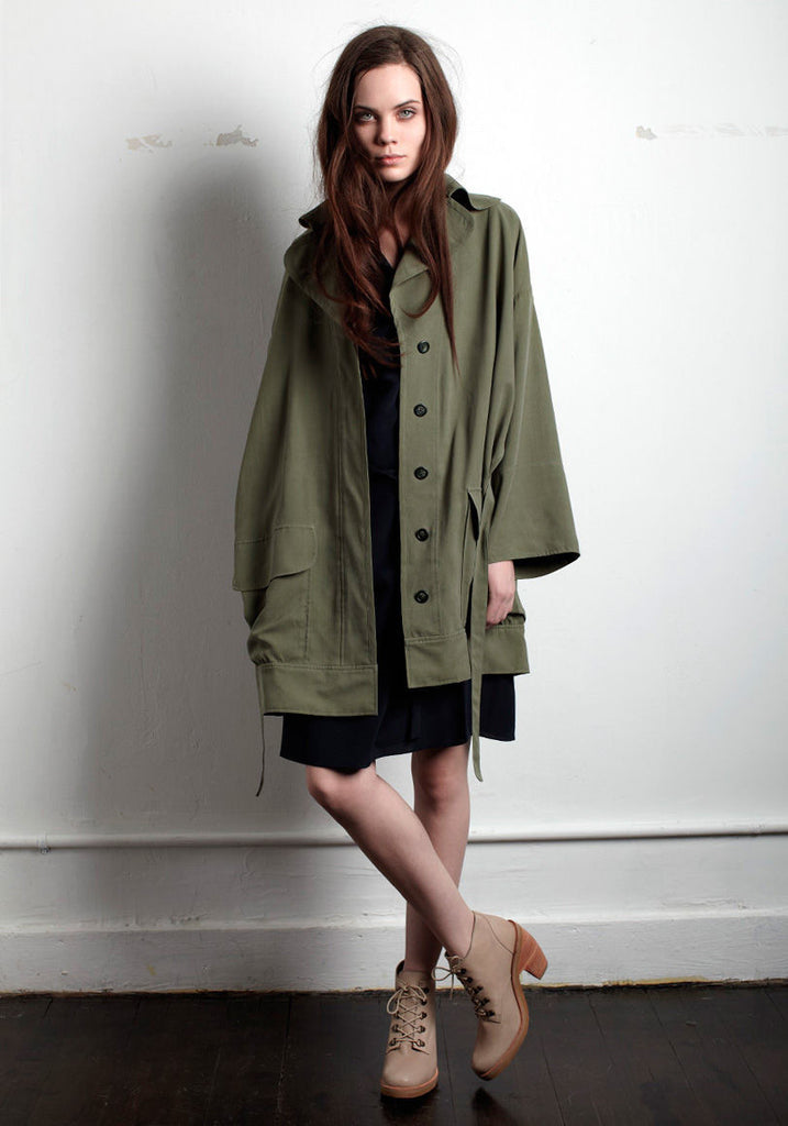 Sand Washed Silk Trench