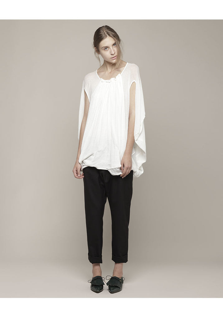 Twister Cotton Top with Drape