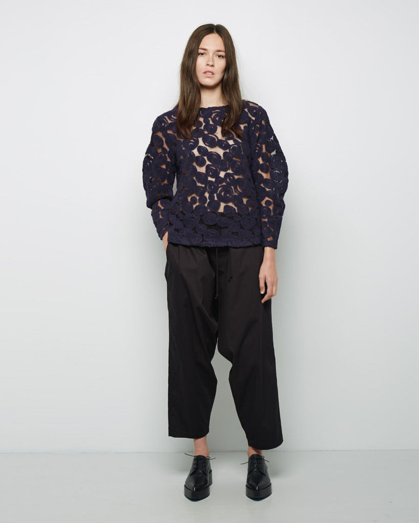 Whirling Wool Jacquard Top