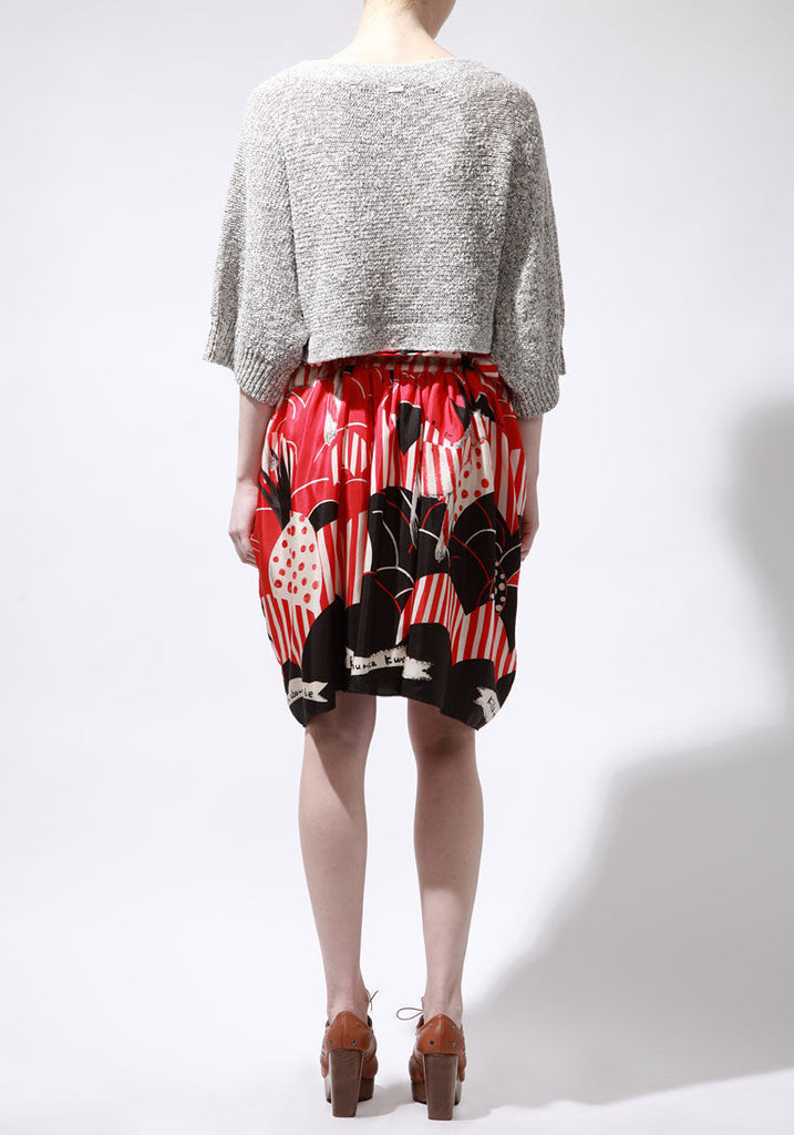 Zebra Pineapple Print Skirt