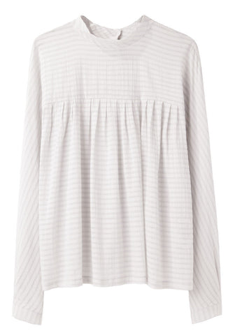 Striped Gathered Top