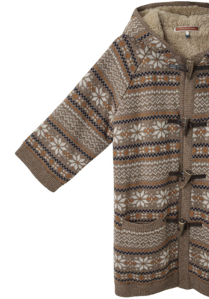 Toggle Jacquard Sweater
