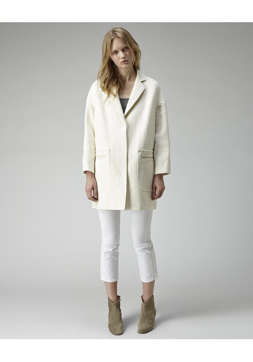 Cotton Cocoon Coat