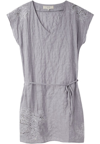 Embroidered V-Neck Dress