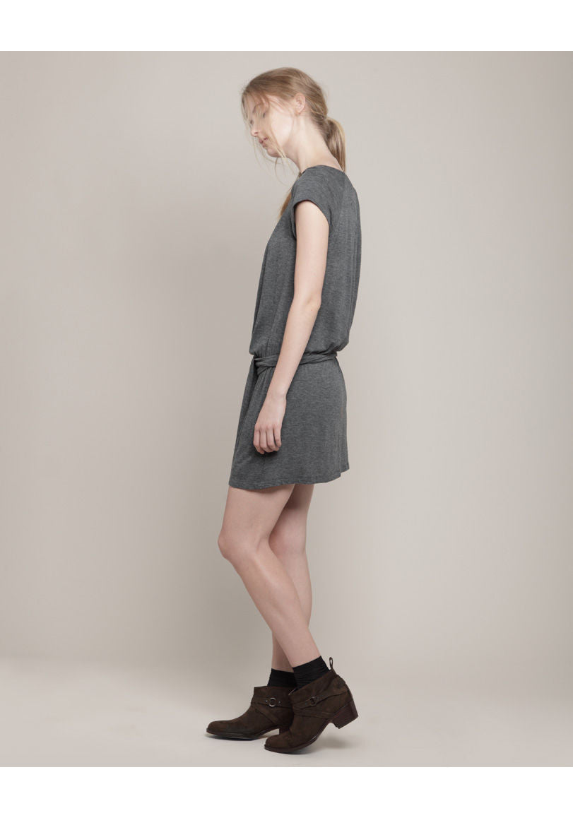 Gathered Jersey Dress