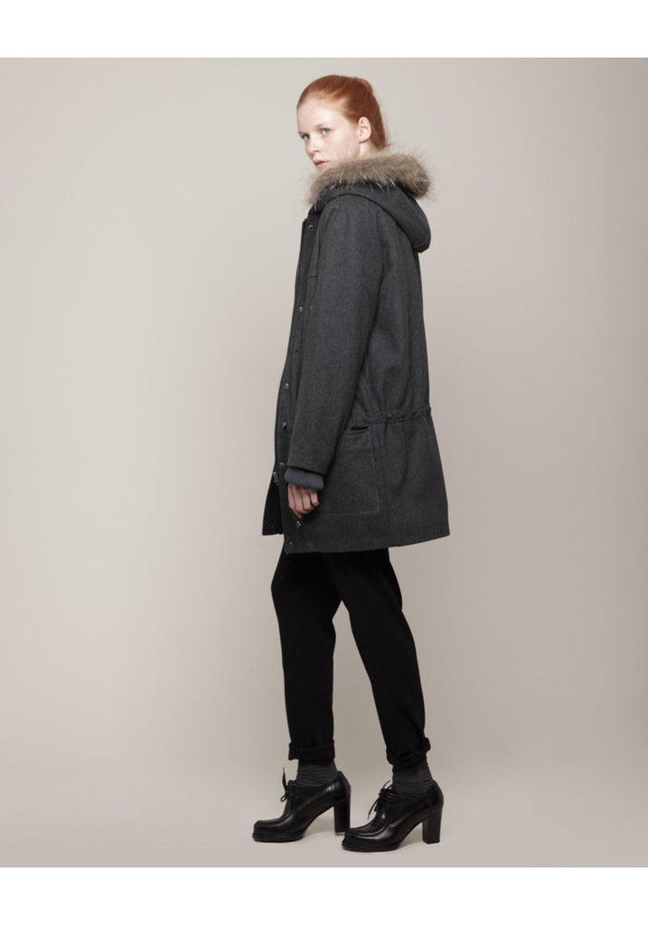Hooded Wool Parka