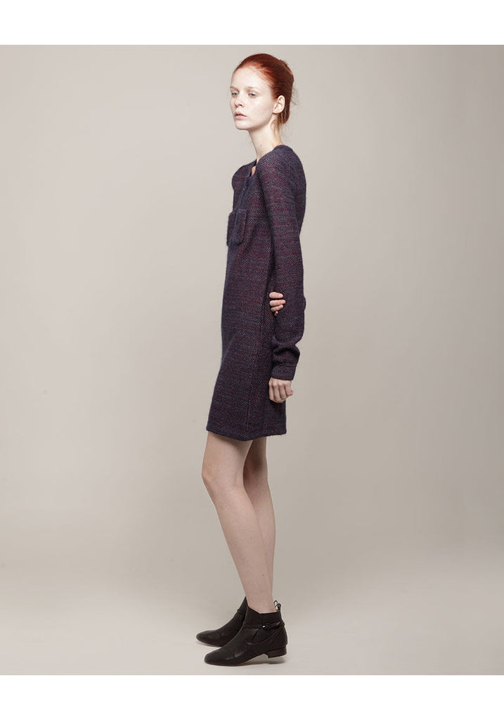 Mohair Tweed Pocket Dress