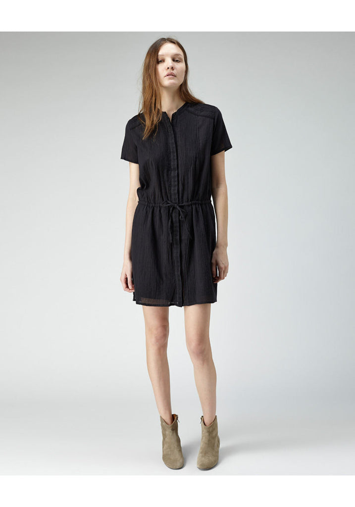 Pintuck & Lace Shirtdress
