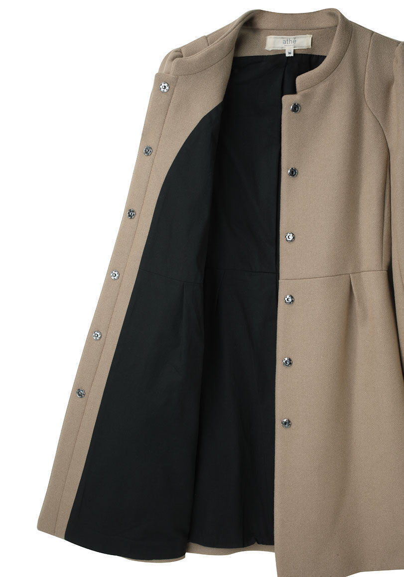 Pleated Wool Coat