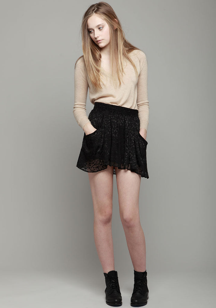 Silk Burnout Skirt