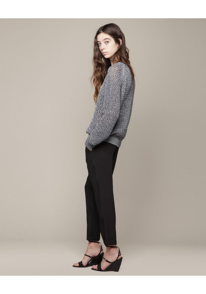 Textured Open Knit Pullover
