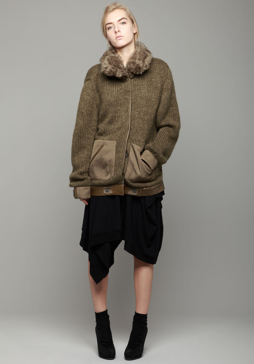 Combed Mohair Sweater Coat