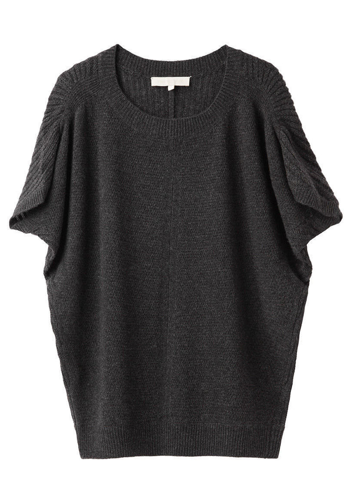 Draped Sleeve Knit