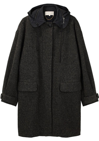 Harris Tweed Coat w/ Hood