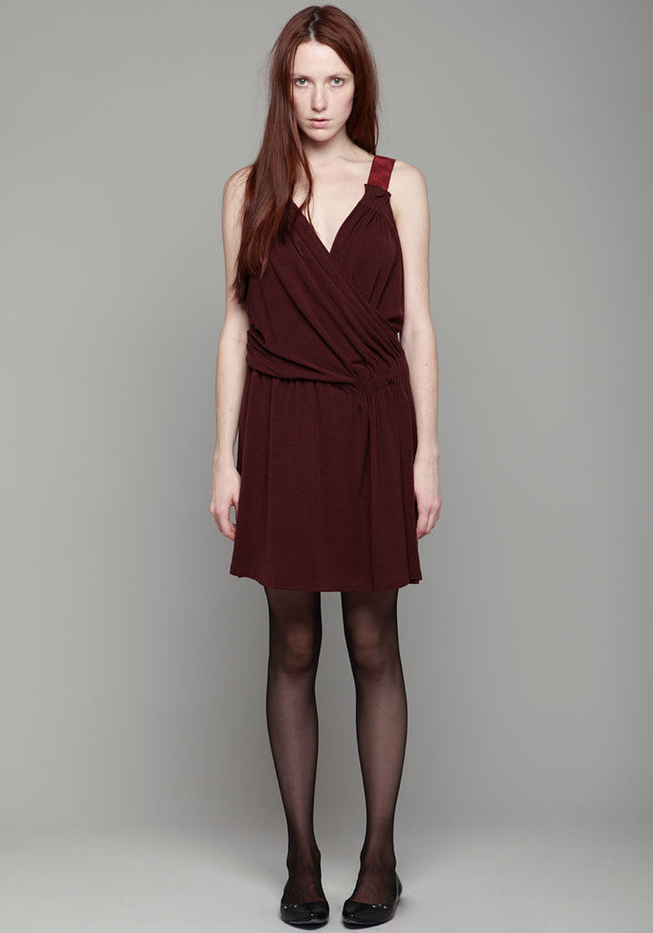 Jersey Dress w/ Suede Trim
