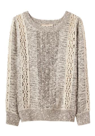 Knit Sweater w/ Lace Detail