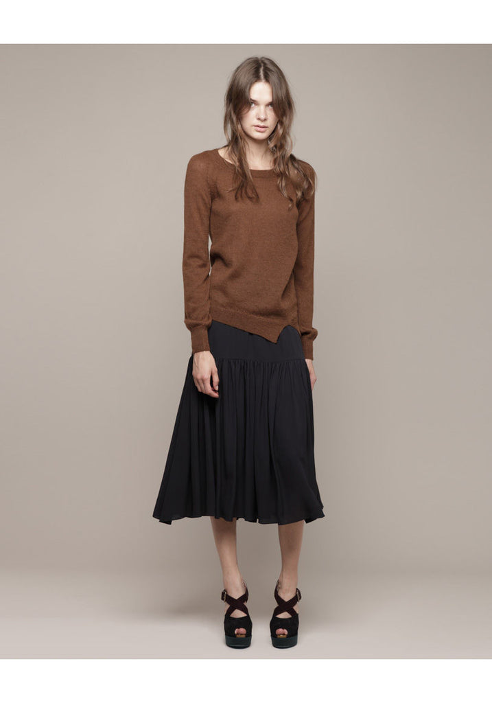Long Sleeved Asymmetrical Knit