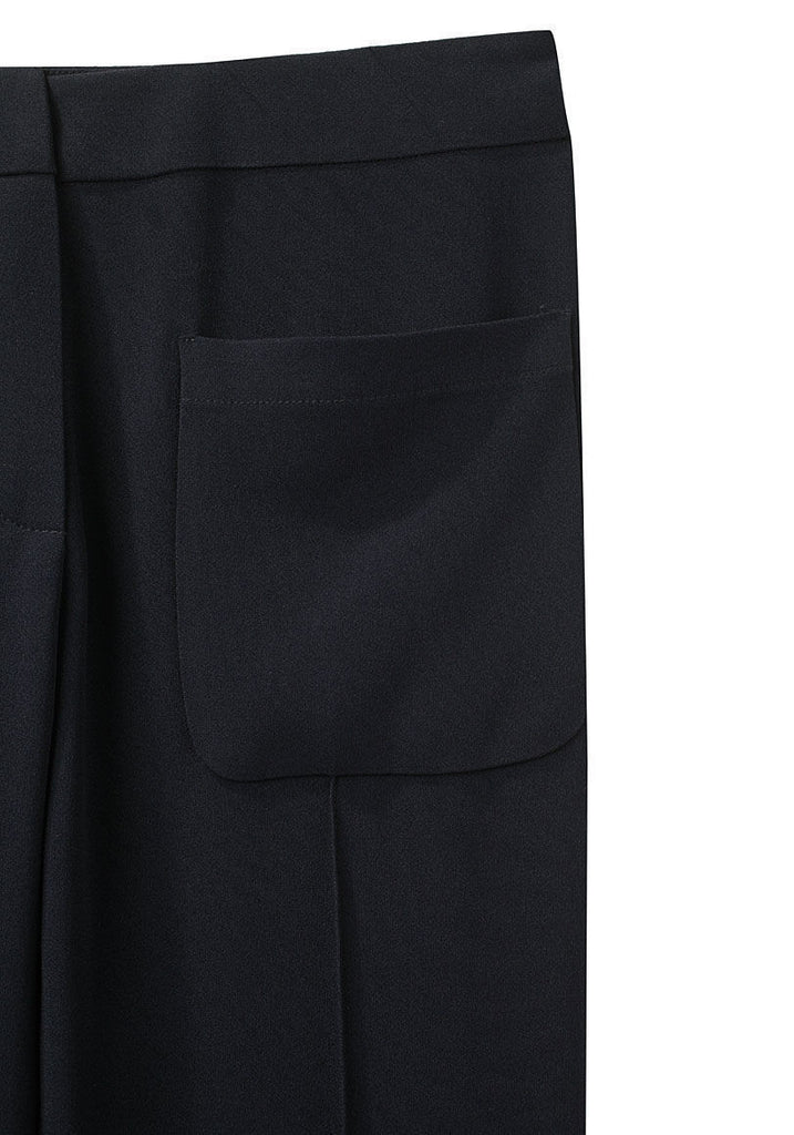 Patch Pocket Crepe Pant