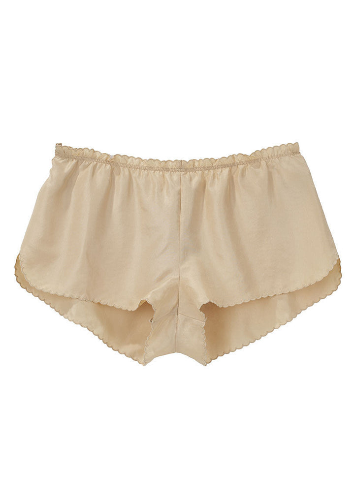 Scalloped Silk Brief