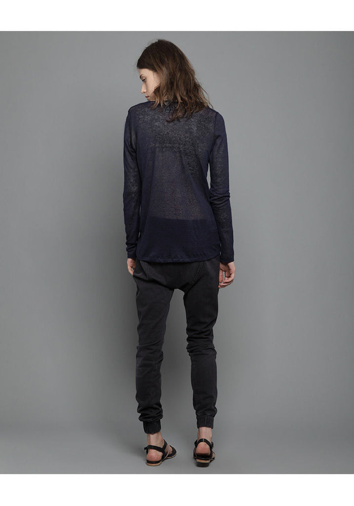 Sheer Long Sleeved Tee