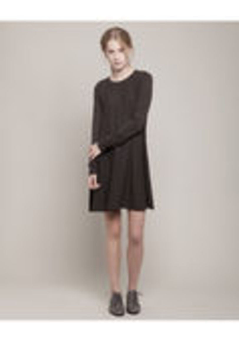 Smocked Knit Sweater Dress