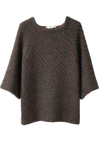 Stitched Boatneck Sweater