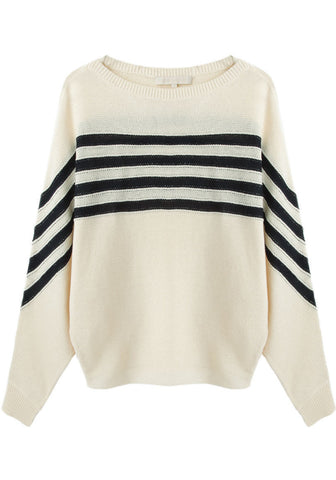Striped Dolman Pullover