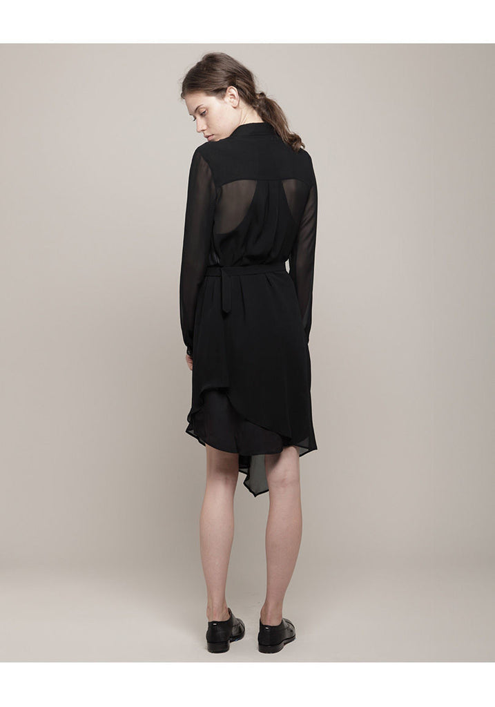 Asymmetric Georgette Dress