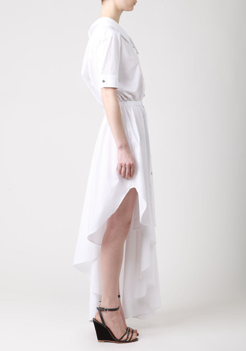 Popeline Asymmetrical Dress