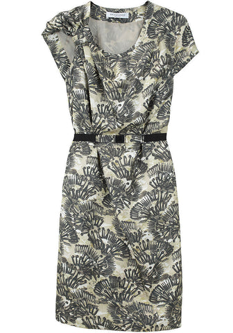 Printed Silk Dress w/ Belt