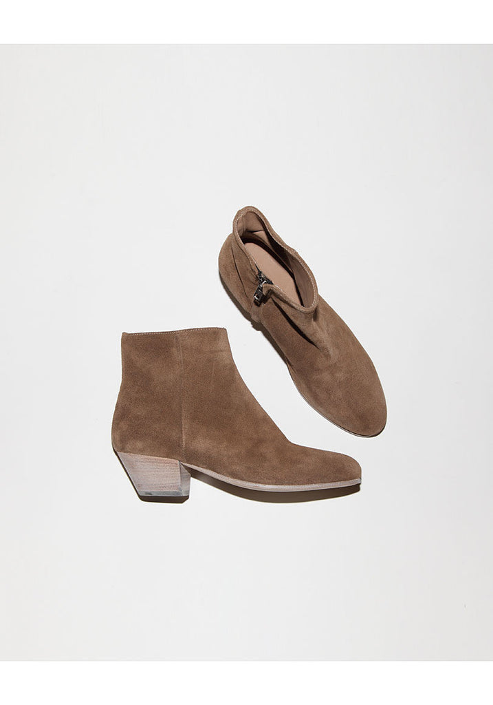 Suede Zipper Boot