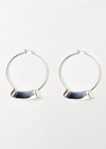 Ridge Hoop Earring